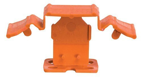 "Tuscan Truspace Orange SeamClip 1/16"" Tile Spacer for 3/8"" to less than 1/2"" Tile 500 ct Box TSC500116O"