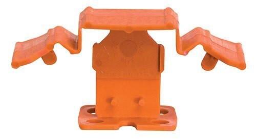 "Tuscan Truspace Orange SeamClip 1/16"" Tile Spacer for 3/8"" to less than 1/2"" Tile 500 ct Box TSC500116O"