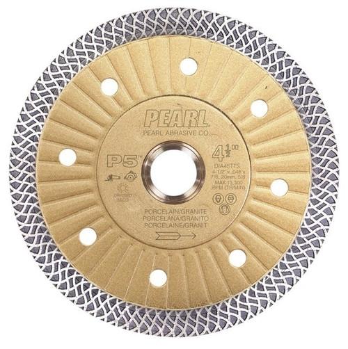 "Pearl Abrasive P5 Turbo Mesh Porcelain Diamond Blade 5"" x .048 x 7/8, 5/8, 20mm (4 Hole)"
