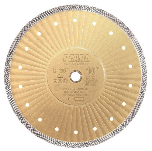 "Pearl Abrasive P5 Turbo Mesh Porcelain/Granite Diamond Blade 10"" x .065 x 7/8, 5/8, 20mm"