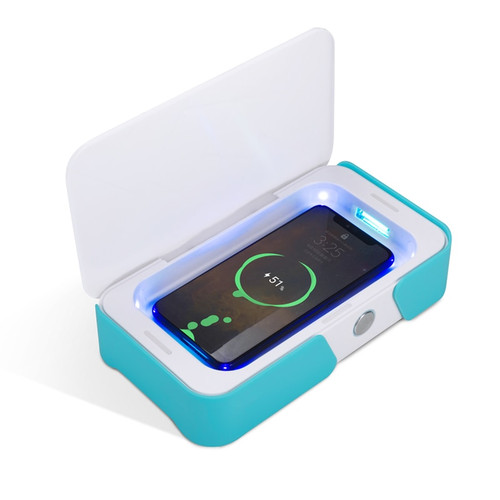 Portable UV-C & Ozone Sterilizer Box w/ Wireless Charging