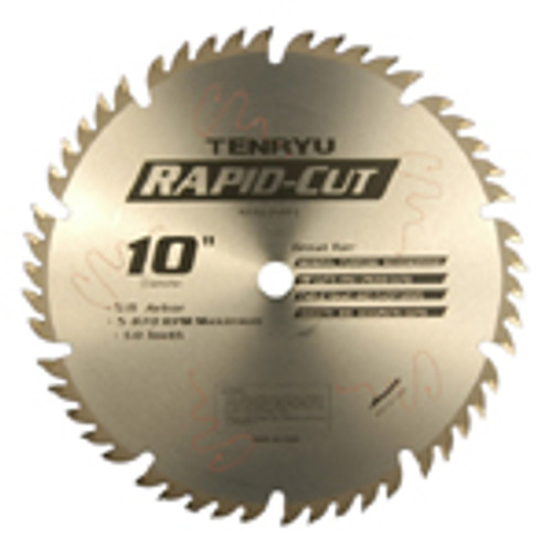 "Tenryu 12"" x 1"" x 48T Rapid Cut Carbide Tipped Table Saw Blade"