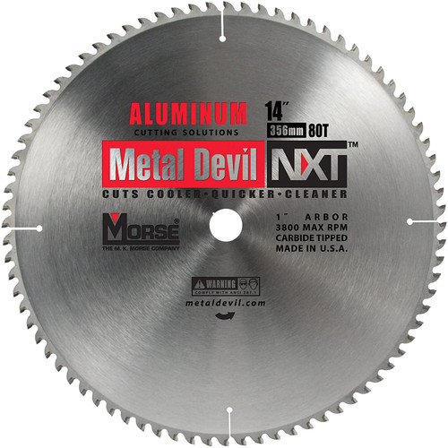 "MK Morse 14"" 80T Aluminum Low RPM Dry Cut Blade"