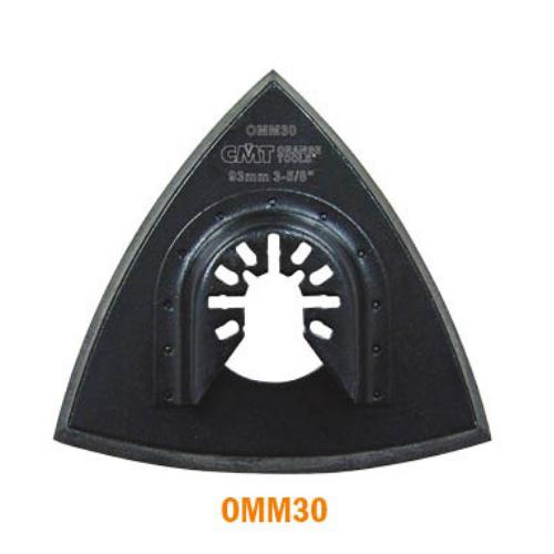 """CMT 3-5/8"""" Delta Velcro Sanding Pad w/Holes"""