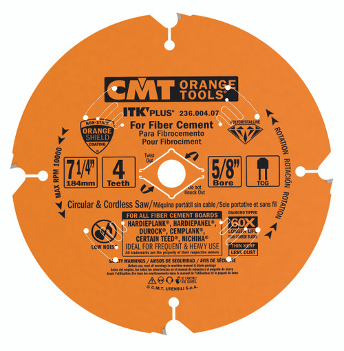 CMT ITK Plus PCT Diamond Tooth Fiber Cement Blade