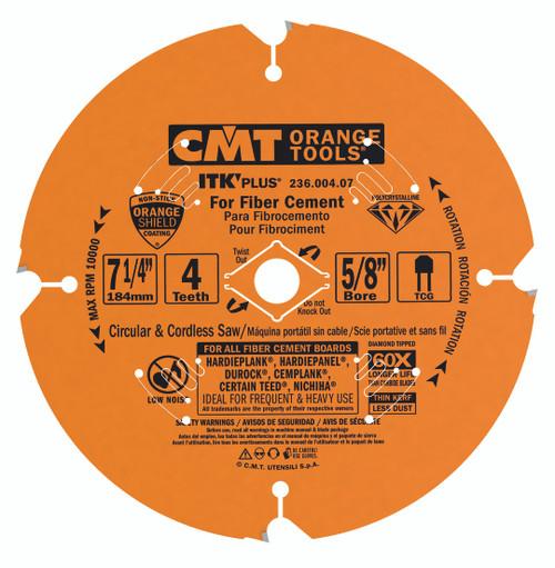 CMT ITK Plus PCT Diamond Tooth Fiber Cement Blade