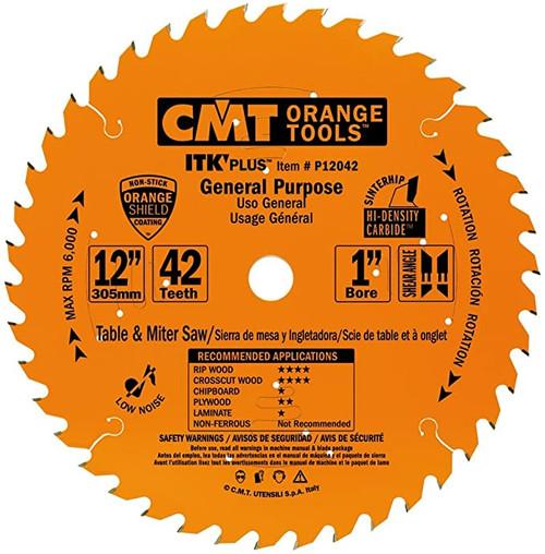 "CMT ITK Plus General Purpose Saw Blade 12"" 42T"