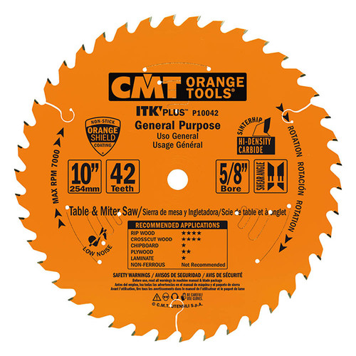 "CMT ITK Plus General Purpose Saw Blade 10"" 42T"