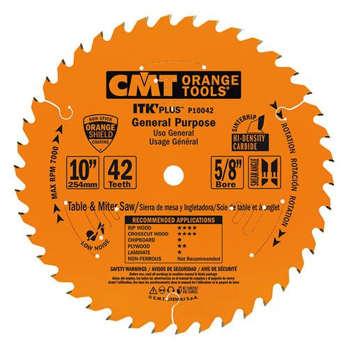 "CMT ITK Plus General Purpose Saw Blade 10"" 42T"