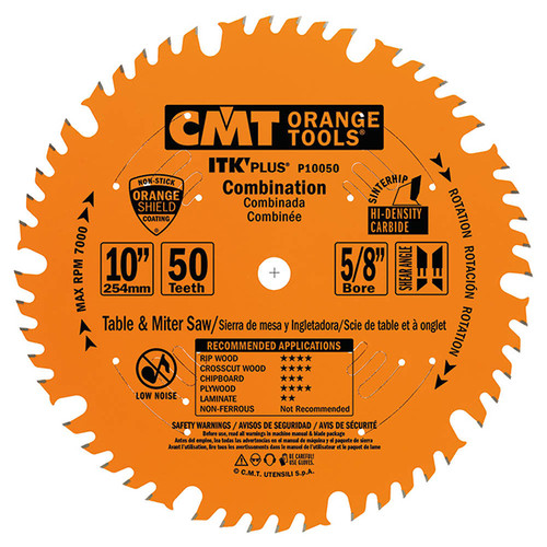 "CMT ITK Plus Combination Saw Blade 10"" 50T"
