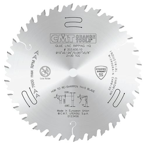 "CMT Orange Chrome Glue Line Ripping Saw Blade 10"" 30T"