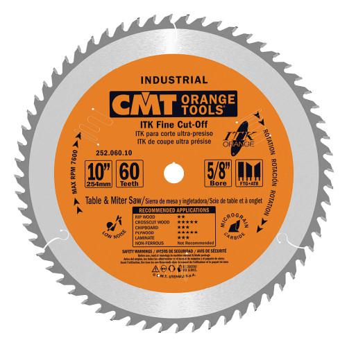 "CMT ITK Industrial Fine Cut-Off Saw Blade 10"" 60T"