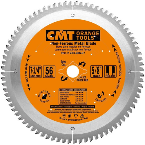 CMT ITK Industrial Non-Ferrous Metal & Melamine Saw Blade