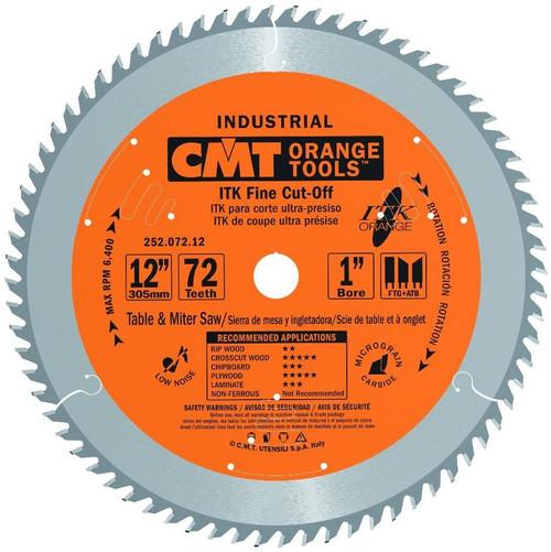 "CMT ITK Industrial Fine Cut-Off Saw Blade 12"" 72T"