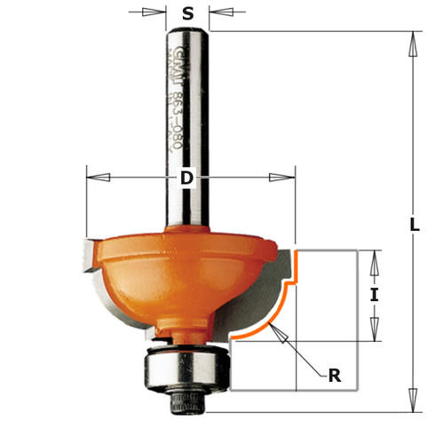 CMT Cavetto Edge Mold Router Bit