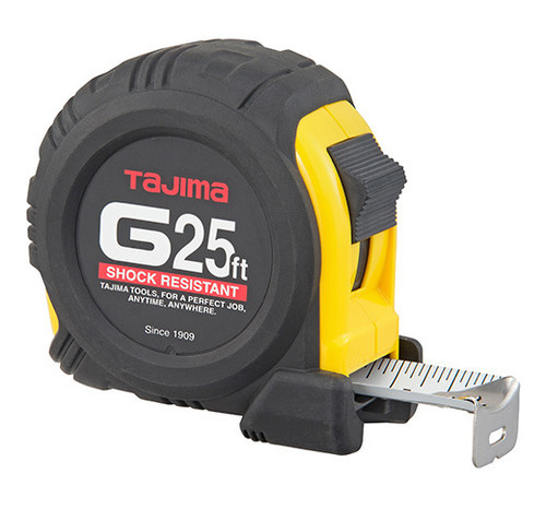 Tajima G-Series Shock Resistant Coated Steel Blade Tape Measure