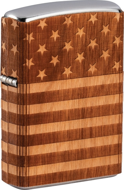 Zippo Woodchuck USA American Flag Wrap Lighter
