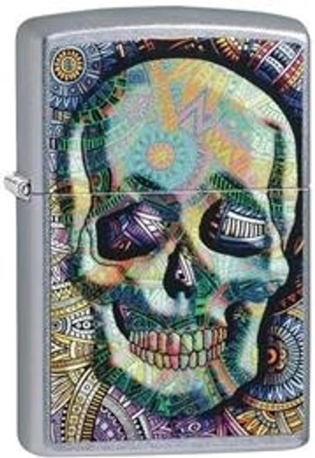 Zippo Geometric Skull Lighter