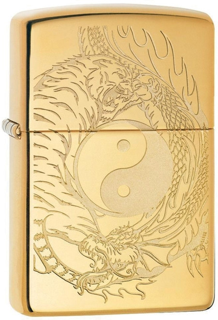 Zippo Tiger & Dragon Yin Yang Lighter