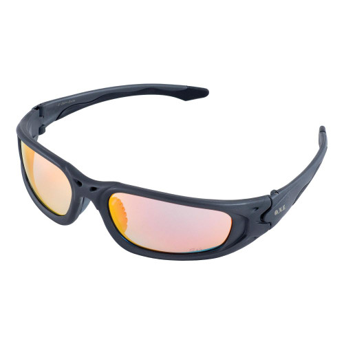 Exile Gray Frame/Gold Mirror Lens Safety Glasses