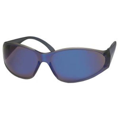 Boas Blue Frame/Blue Mirror Lens Safety Glasses