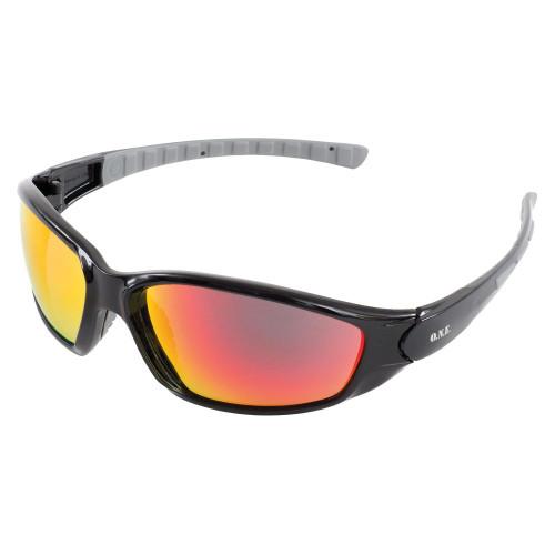Ammo Sport Black Frame/Red Mirror Lens Safety Glasses