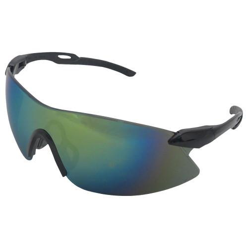 Strikers Black Frame/Gold Mirror Lens Safety Glasses