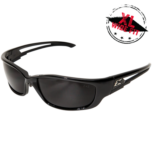 Kazbek XL Black Frame/Polarized Smoke Lens Safety Glasses