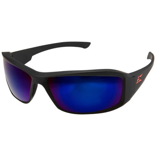 Brazeau Black Frame/Polarized Blue Mirror Lens Safety Glasses