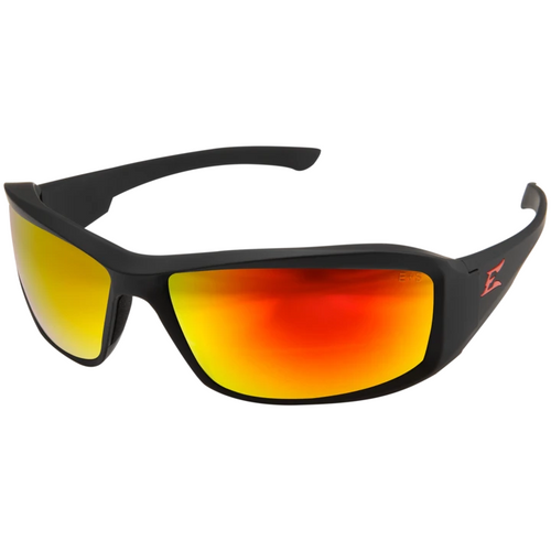 Brazeau Black Frame/Polarized Red Mirror Lens Safety Glasses