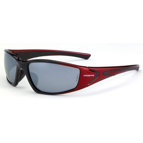 Crossfire RPG Pearl Red Frame/Silver Mirror Lens Safety Glasses