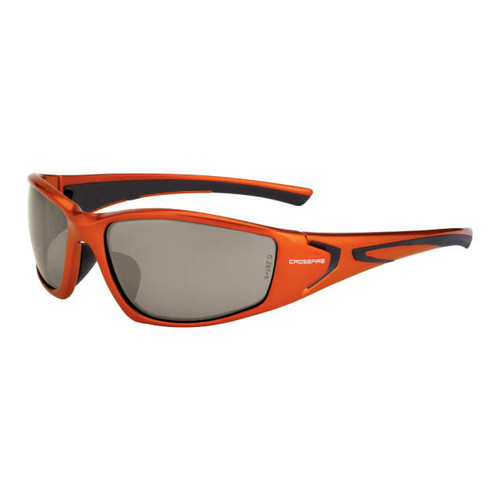 Crossfire RPG Burnt Orange Frame/Demi-Copper Mirror Lens Safety Glasses