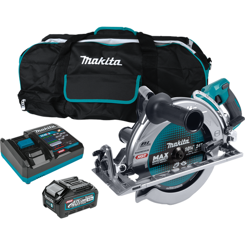 "Makita 40V max XGT® Brushless Cordless Rear Handle 10‑1/4"" Circular Saw Kit, AWS® Capable, 4.0Ah"
