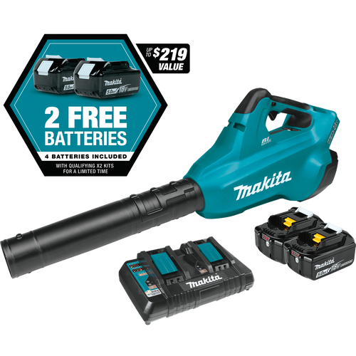 Makita 36V (18V X2) LXT Li-Ion Brushless Blower Kit with (4) 5.0Ah Batteries