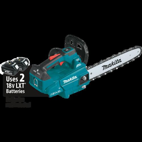 "Makita 36V (18V X2) LXT® Li-Ion Brushless Cordless 16"" Top Handle Chain Saw, Tool Only"