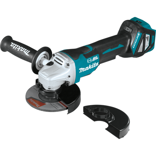 """Makita 18V LXT® Li‑Ion Brushless Cordless 4‑1/2"""" / 5"""" Paddle Switch Cut‑Off/Angle Grinder with Electric Brake, Tool Only"""