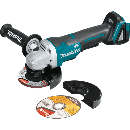 """Makita 18V LXT® Li‑Ion Brushless Cordless 4‑1/2"""" / 5"""" Paddle Switch Cut‑Off/Angle Grinder, with Electric Brake, Tool Only"""