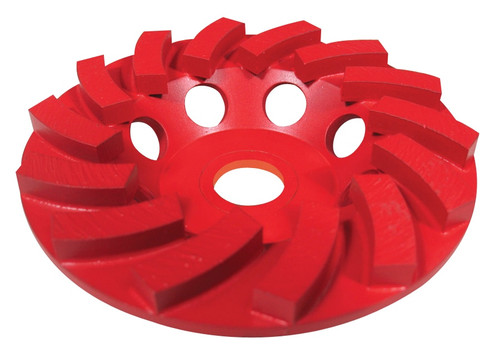 Pearl Abrasive Pro-V Series Swirl Segmented Cup Wheel 4 x 5/8-11 PV04CSH 4 x 5/8-11