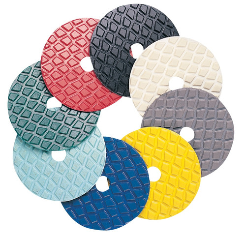 "Pearl Abrasive Resin Diamond Disc Polishing Pads 4"" 50 grit Olive SPD4050"