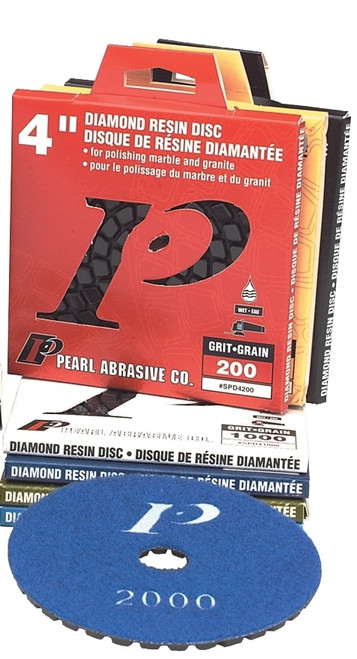"Pearl Abrasive Premium Polishing Pad and Buff Kit 4"" 50-2000 grit and Buff SPD4KIT"