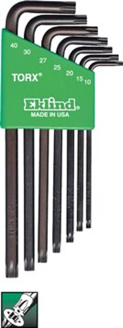 Ecklind 7 pc Long Series Security Torx® L-Key Set with Holder T10-T40 10707