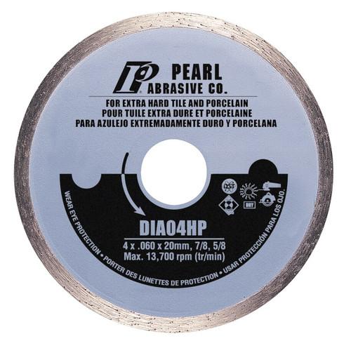 Pearl Abrasive P5 Diamond Blade for Porcelain 4 x .060 x 20mm, 7/8, 5/8 DIA04HP