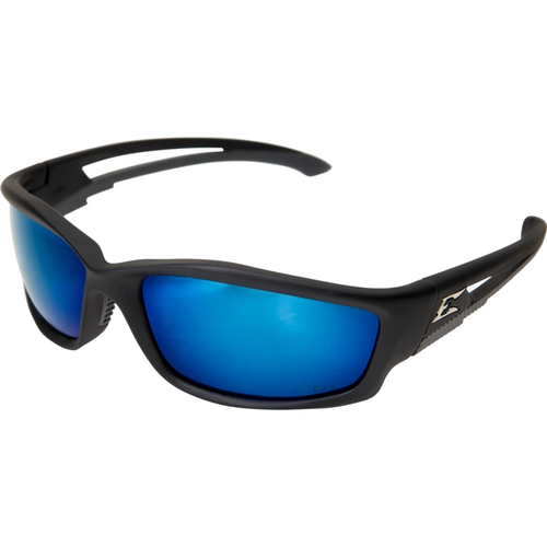 Kazbek Black Frame/Polarized Blue Mirror Lens Safety Glasses