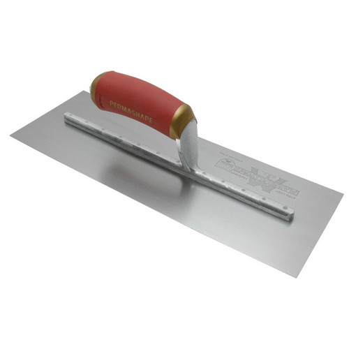 Marshalltown 18 X 4 PermaShape® Carbon Steel Finishing Trowel w/Curved DuraSoft® Handle 13265