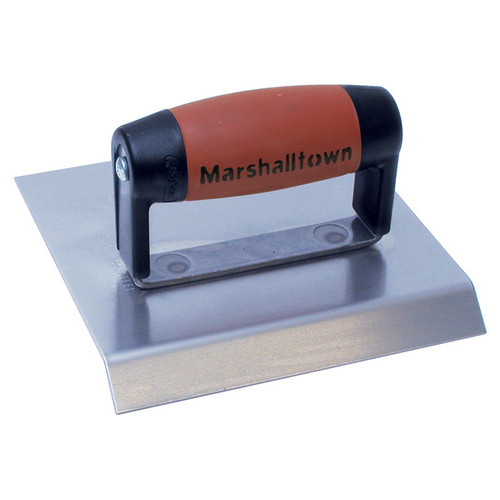 Marshalltown 6 X 8 Stainless Steel Chamfer Hand Edger-DuraSoft® Handle; 1/2 Lip 14480