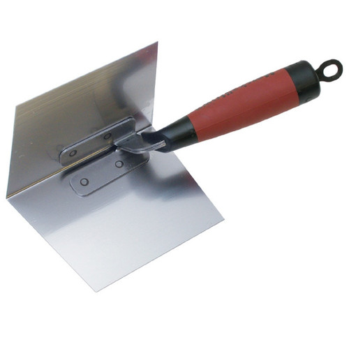 Marshalltown 5 X 3 3/4 Thin Coat Inside Corner Trowel with DuraSoft Handle 15324