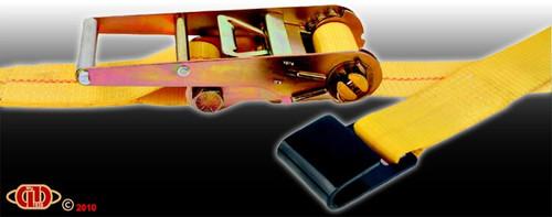 "Durabilt 3"" x 27' Ratchet Strap w/Flat Hook RS-3-27-L-FH"