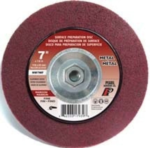 Pearl Abrasive Surface Preparation Wheel 7 x 5/8-11 Maroon Fine Grit 10 Count Box NW7MFH