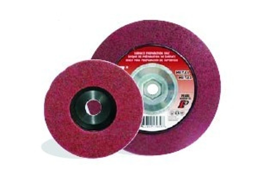 Pearl Abrasive Surface Preparation Wheel 4 1/2 x 5/8-11 Maroon Fine Grit 10 Count Box NW45MFH