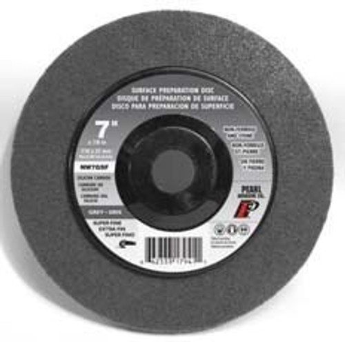 Pearl Abrasive Surface Preparation Wheel 7 x 5/8-11 Grey Super Fine Grit 10 Count Box NW7GSFH